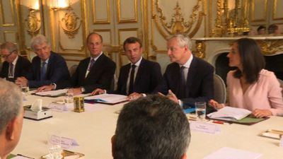 Macron hosts international climate summit at Elysée Palace