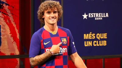 Football: Antoine Griezmann photo session at the Camp Nou