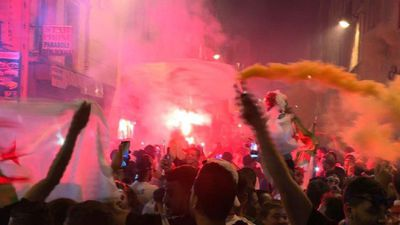 Algerians celebrate team's win in Paris