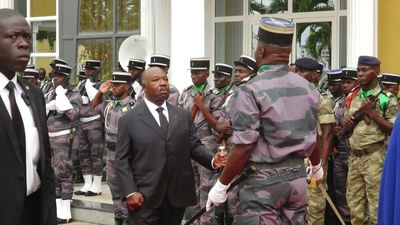 Gabon's Bongo in first live public appearance since stroke