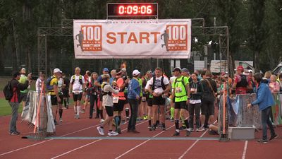 Hundreds participate in the 100-mile Berlin Wall Race