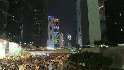 HK protesters back on Harcourt Road after largest rally in weeks