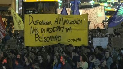 Hundreds demonstrate against Brazil's government