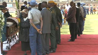 Residents of Harare pay respects to Mugabe in Rufaro Stadium