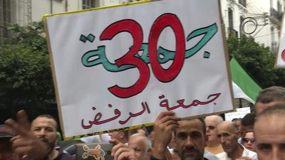 Algerians protest the regime for 30th consecutive Friday