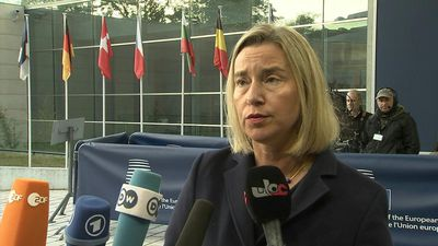 EU foreign ministers arrive for talks in Luxembourg