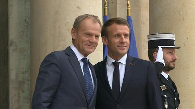Macron meets EU Council President Donald Tusk ahead of key summit