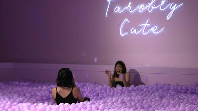 Frolic in a bubble tea ball pit at Singapore exhibit