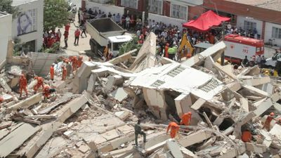 Images of collapsed building in northeastern Brazil