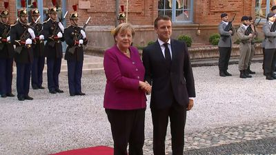 Macron, Merkel in Toulouse for Franco-German council