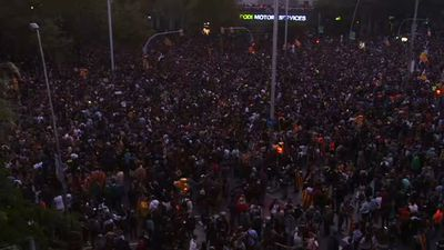 Protesters fill the streets of Barcelona