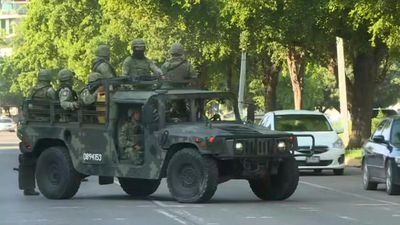 Security forces in Culiacan, Mexico, after all-out gun battle