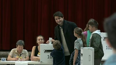 Justin Trudeau casts vote in Canada's general election