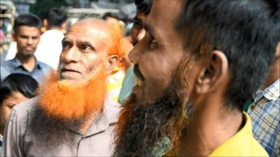 Orange is the new grey for Bangladesh beards