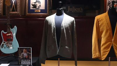 Cigarette-burned Kurt Cobain 'Unplugged' cardigan heading to auction