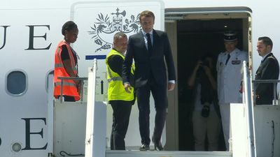 Emmanuel Macron arrives in Mayotte