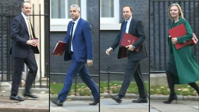 British ministers arrive for cabinet meeting ahead of crucial Brexit votes