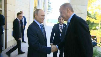 Putin, Erdogan start talks on Syria in Russia