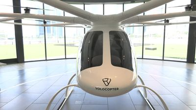 Flying taxi on show in Singapore ahead of test launch