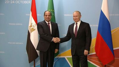 Putin meets with el-Sisi at Russia-Africa summit