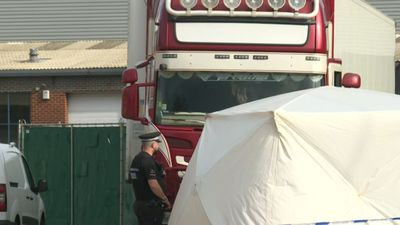 Images of lorry container where 39 bodies were found in Essex