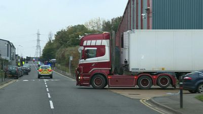 Lorry that contained 39 bodies leaves Essex industrial park