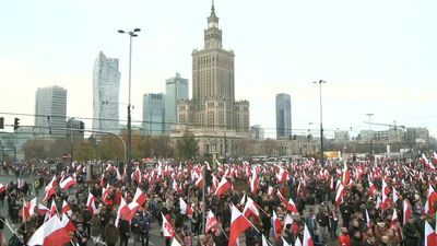 Polish far-right groups gather for march in Warsaw