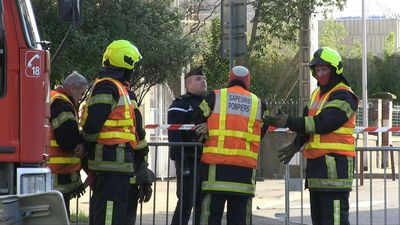 Emergency services gather near the epicentre of strong earthquake in southeastern France