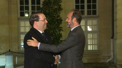 French PM welcomes Tunisian counterpart Youssef Chahed to Paris