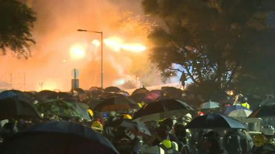 Protests continue in Hong Kong outside Chinese University