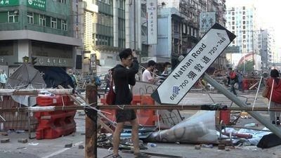 The morning after in Hong Kong following intense protests