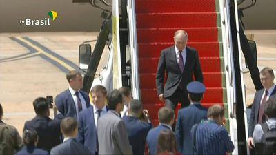 Russian president arrives in Brazil for 11th BRICS summit