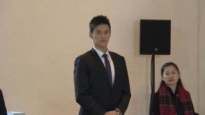 Chinese swimmer Sun Yang arrives for CAS hearing over doping