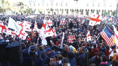 Thousands protest in Georgia demanding snap polls