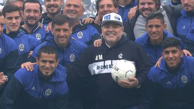 Maradona returns as coach of Argentina's Gimnasia