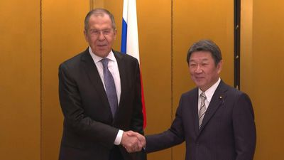 G20: Motegi meets with Lavrov