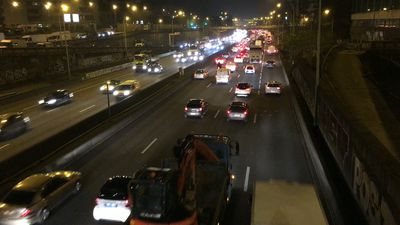 Heavy traffic on Paris ring road on first strike day