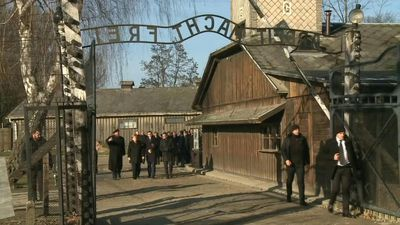 German Chancellor Angela Merkel visits Auschwitz for first time