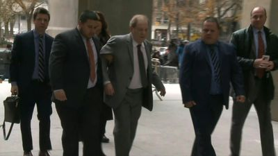 Weinstein arrives at the Supreme Court of the state of New York for bail hearing