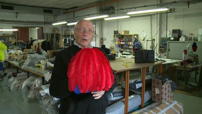 Fashionable feathers: Italian designer's life in plumes