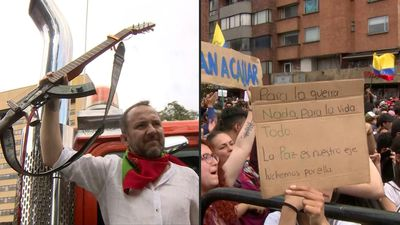 In Colombia, musicians join anti-government protests