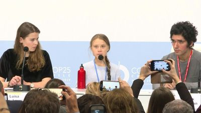 Young climate activists speak at COP25 in Madrid