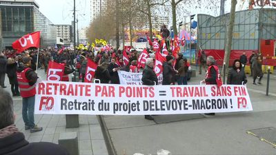 Demonstration in Rennes against pension reform