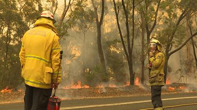 Australia firefighters battle east coast blaze