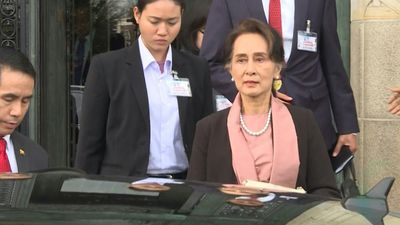 Aung Saan Suu Kyi leaves ICJ after leading Myanmar's defence