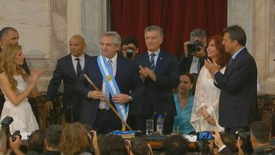 Center-leftist Fernandez sworn in as Argentina president