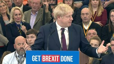 British PM Boris Johnson addresses supporters, 2 days away from decisive poll