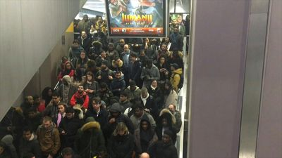 Commuter chaos at Gare du Nord at rush hour as strike continues to bite