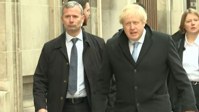 British PM Boris Johnson casts his vote in general election