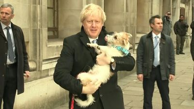 British PM Boris Johnson arrives at polling station (2)